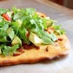 Paleo Bacon, Avocado, Tomato and Arugula Flatbread