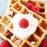 Perfect Paleo Waffles with Coconut Whipped Cream