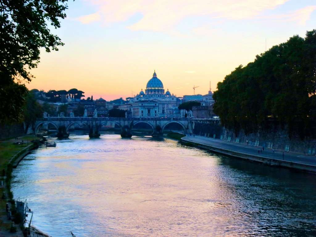 Vatican City across the Tiber River
