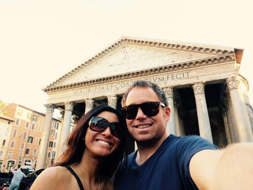 Selfies at the Pantheon