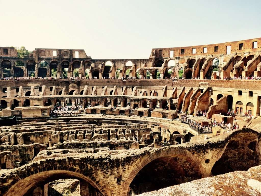 The grand Colosseum (Coliseum or Flavian Amphitheatre)
