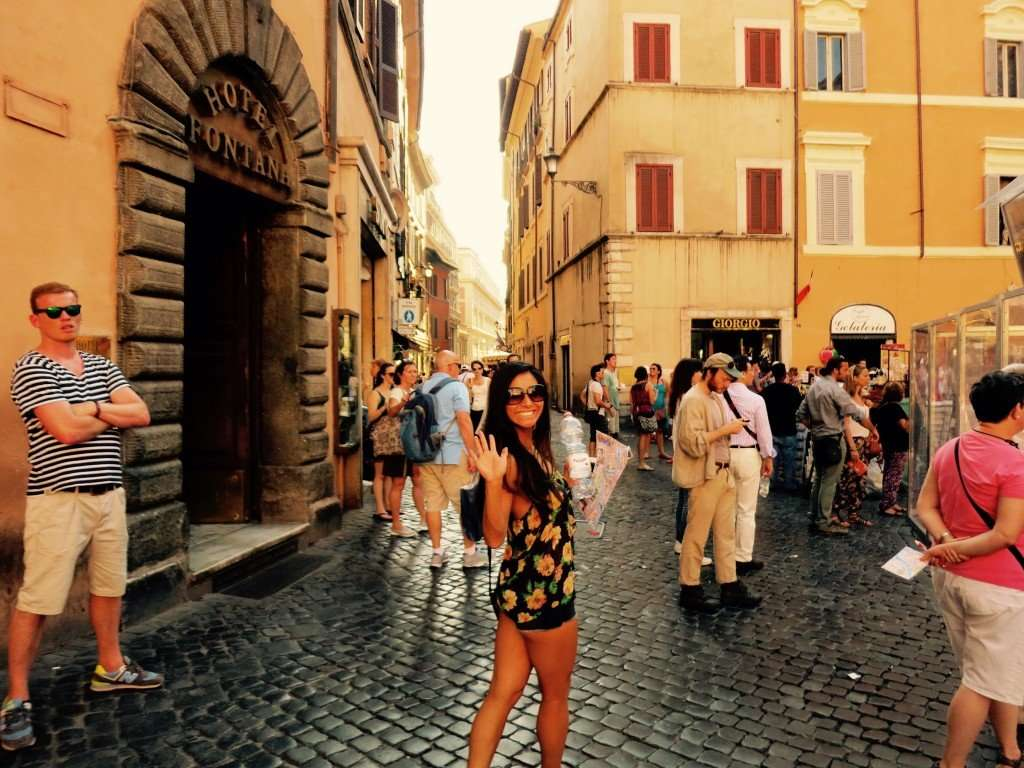 In the streets of Trevi Fountain