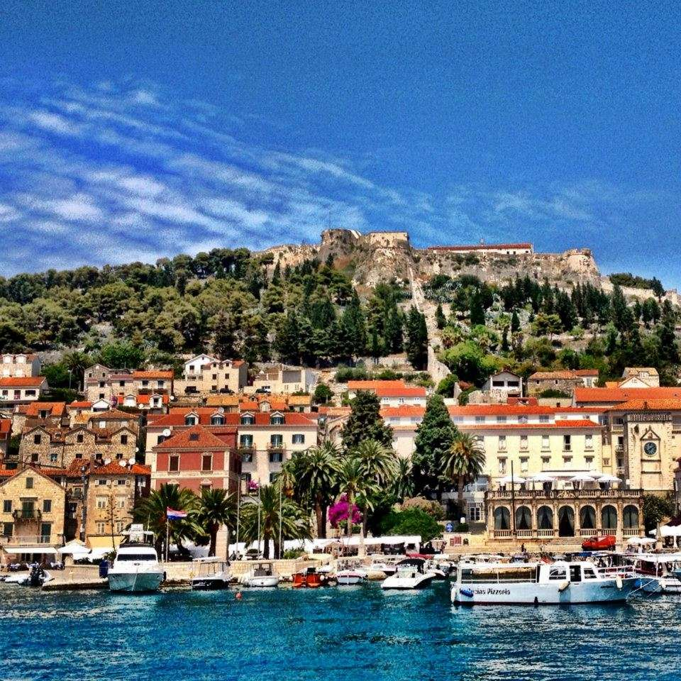 The view pulling into Hvar