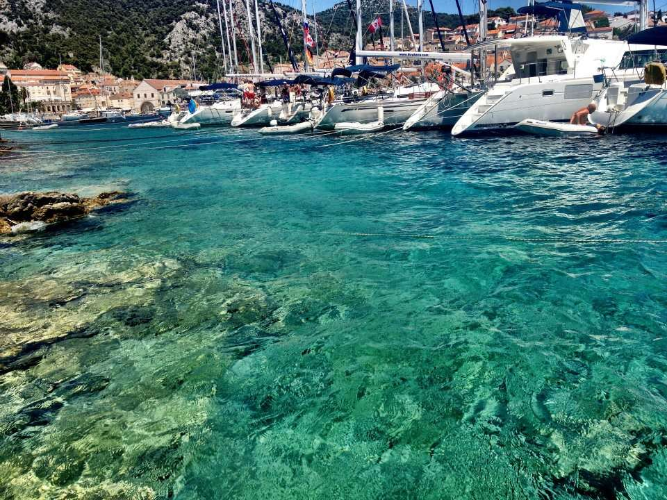 Crystal clear Hvar water