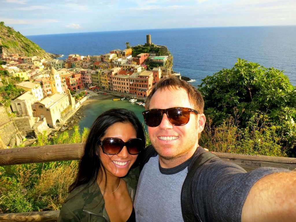 The view overlooking charming Vernazza