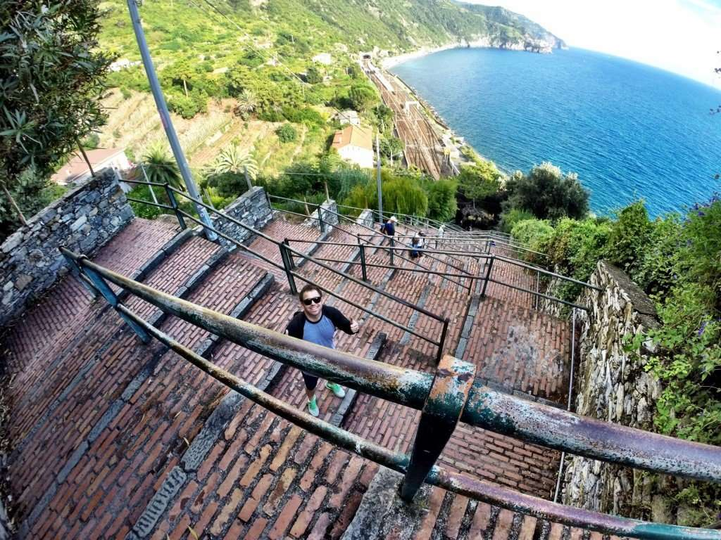 The 365 steps to the top of Corniglia
