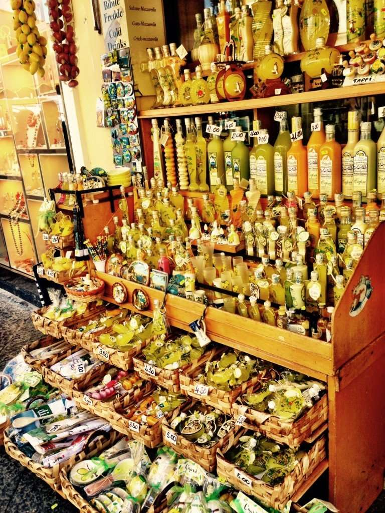 Find limoncello made from the island's lemons in the Piazzetta to bring home.