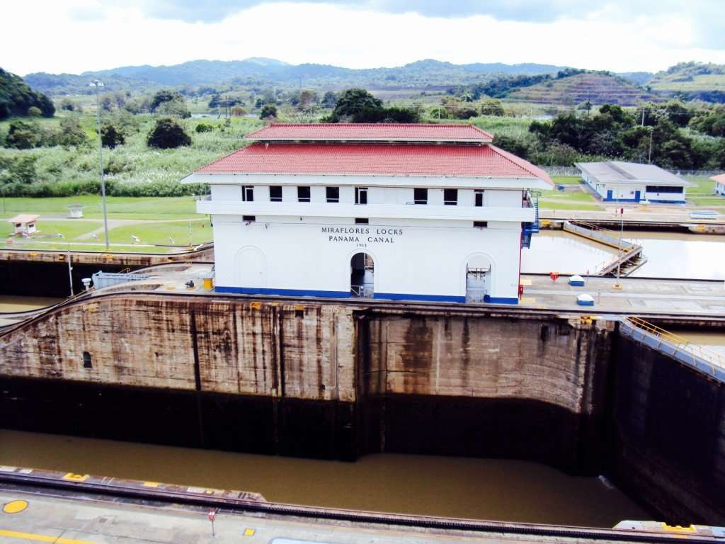 Panama Canal at the Miraflores Locks