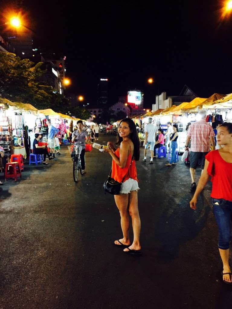 Shopping and eating at Ben Tanh Night a Market. Night markets are my favorite!