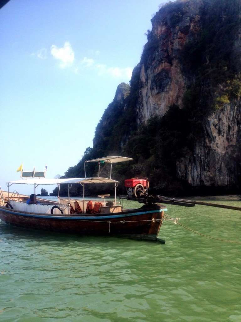Arriving at Railay