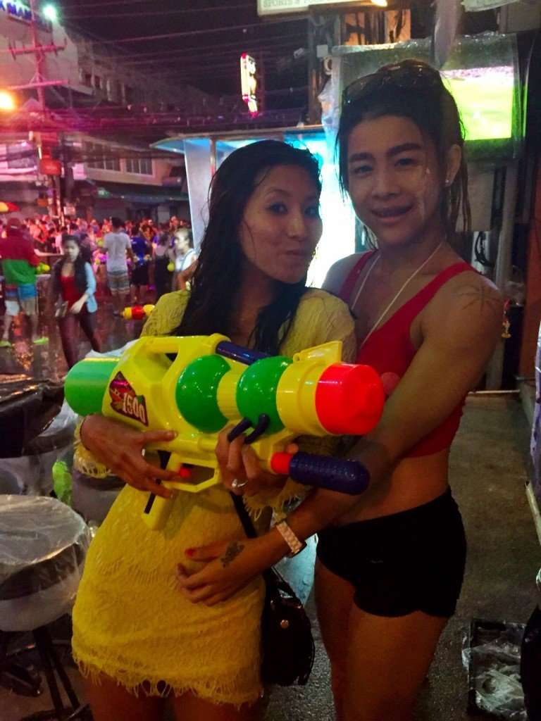 Lady boys and super soakers...happy new year!