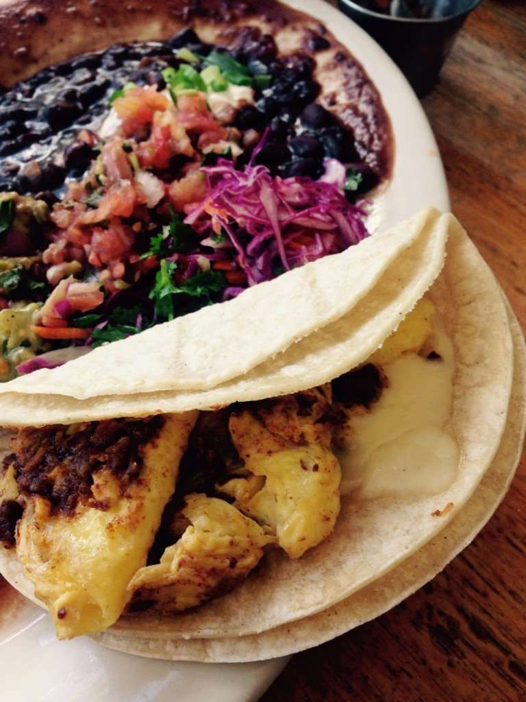 Egg and chorizo tacos at Penny Cluse Cafe