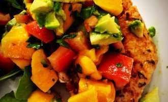 Paleo Pork Chops with Mango Avocado Salsa