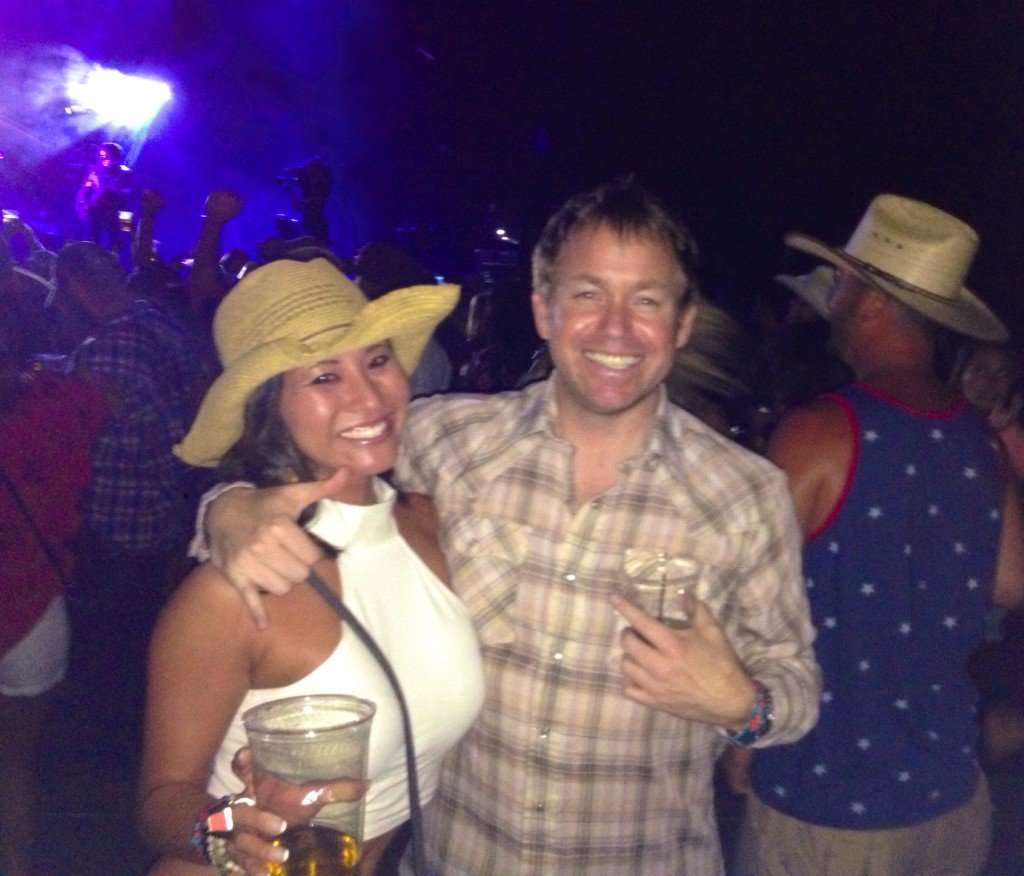 Kevin's first country concert...worked all week it's time to play, gonna get a little bit sideways!