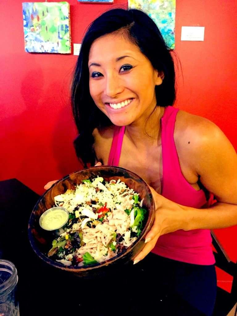 Insane salad at Green Goddess Cafe