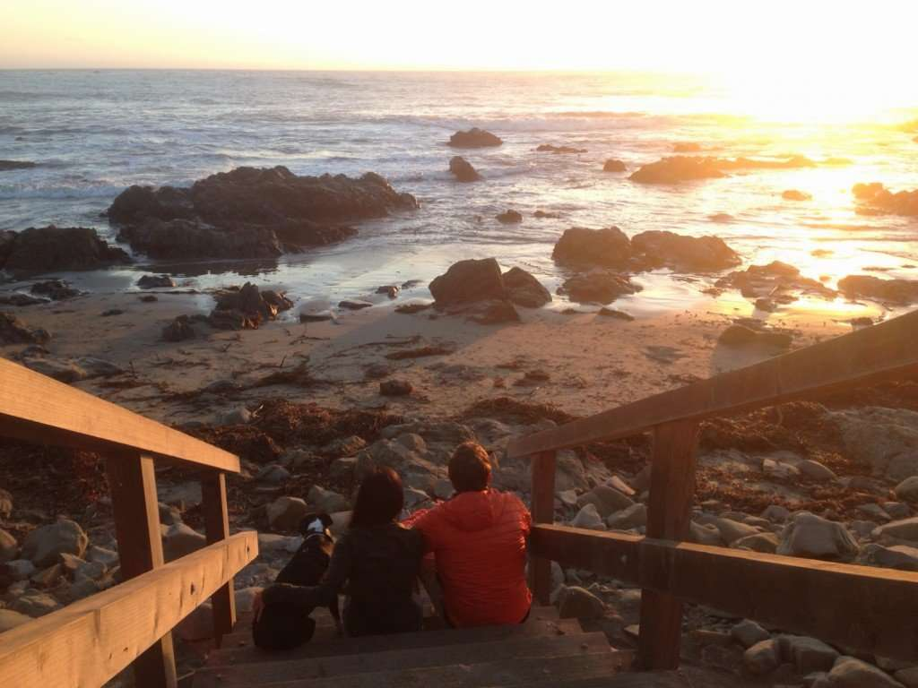 Catching the sunset in Cambria